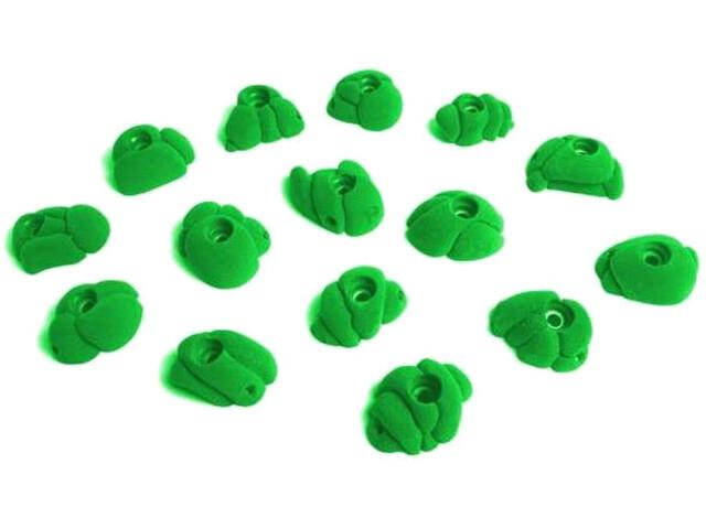 Fixe Meteorites Climbing Holds S 15 Pack, zielony